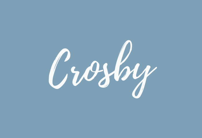Crosby name meaning