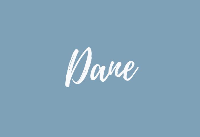 Dane name meaning