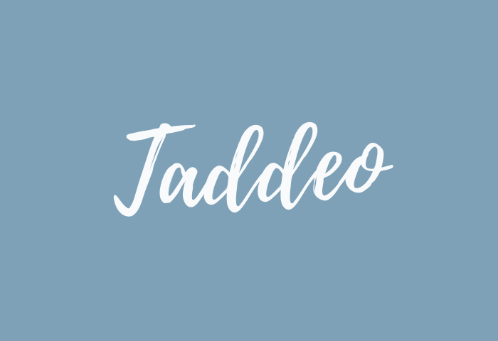 Taddeo Name Meaning