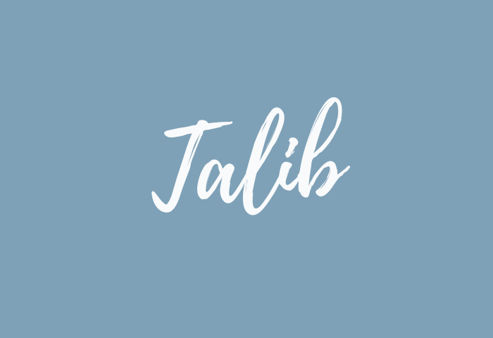 talib name meaning