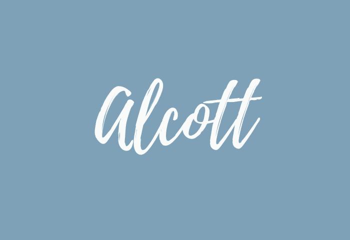 alcott name meaning