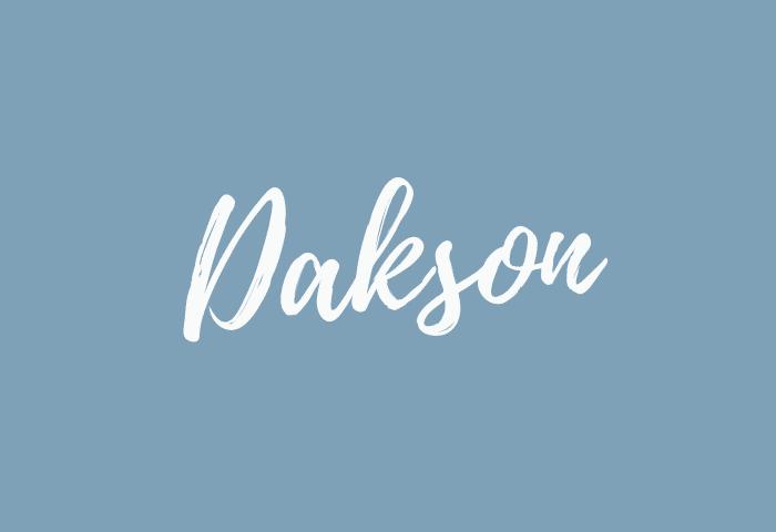 Dakson name meaning