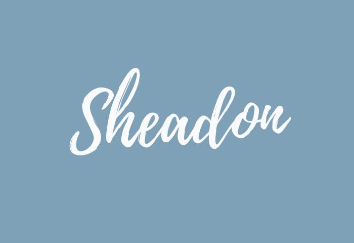 sheadon name meaning