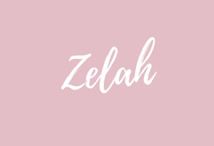 zelah name meaning