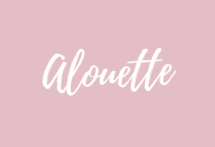 Alouette Name Meaning