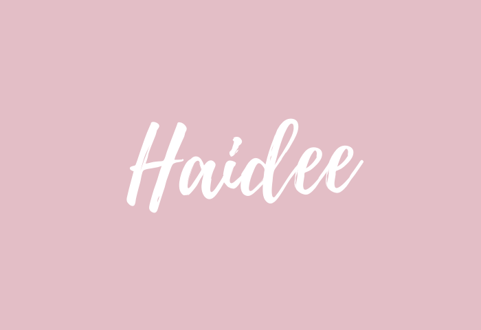 haidee name meaning