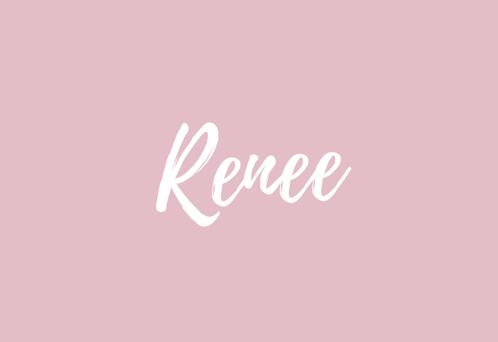Renee Name Meaning
