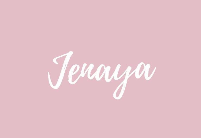 jenaya name meaning