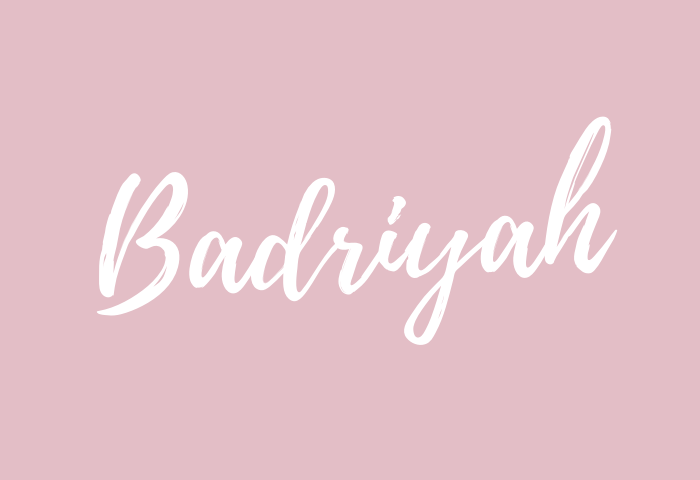 Badriyah Name Meaning