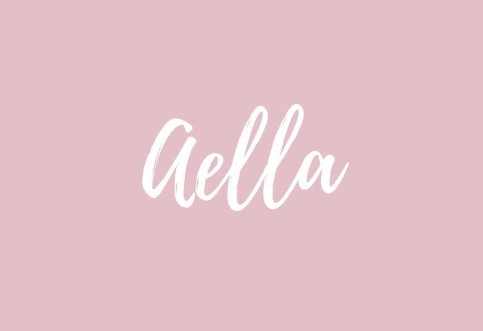 Aella name meaning