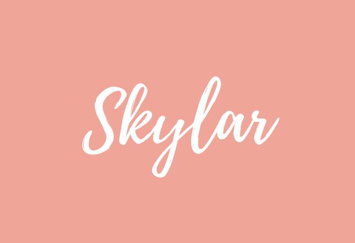 Skylar Name Meaning