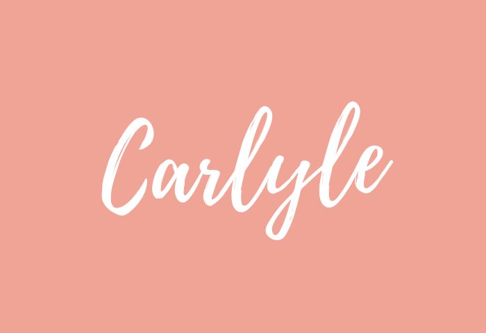 carlyle name meaning