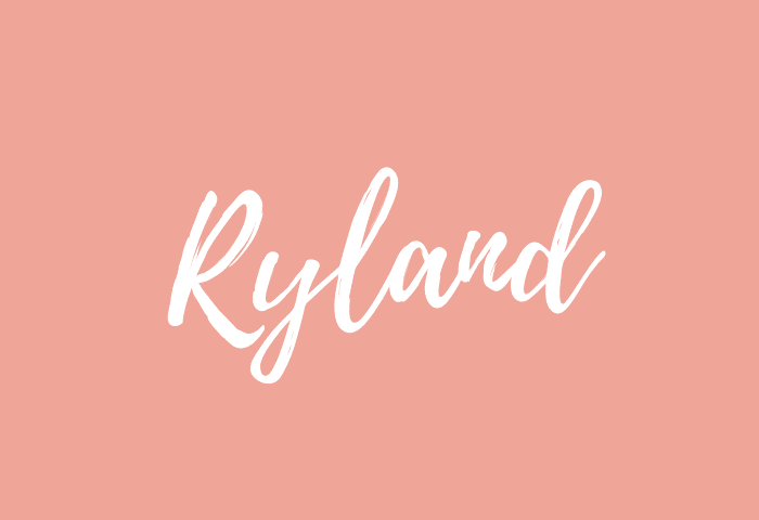 ryland name meaning
