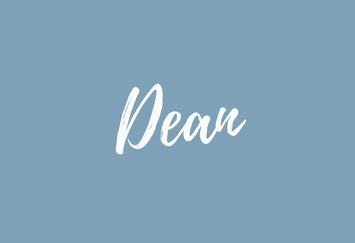 dean name meaning