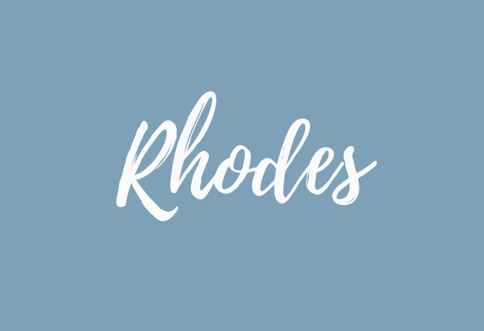 Rhodes name meaning