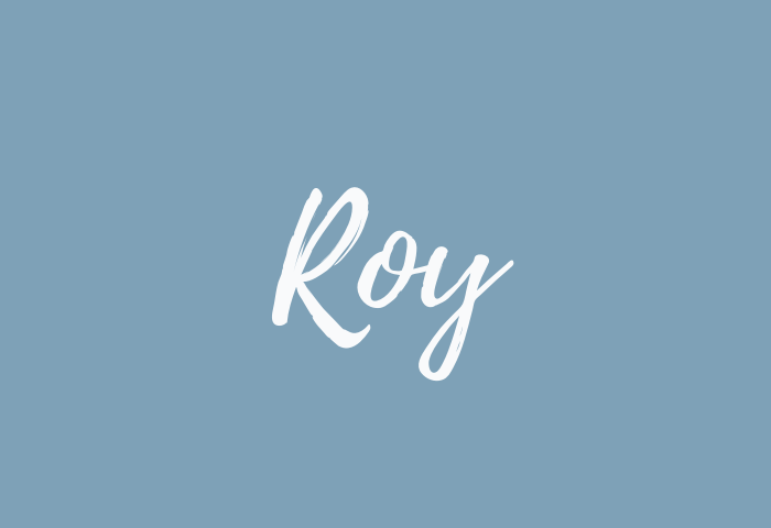 roy name meaning