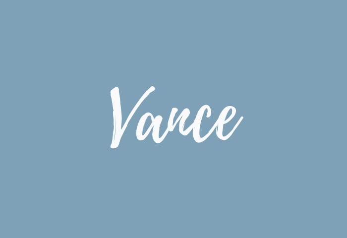 vance name meaning