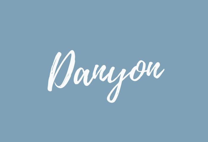 Danyon name meaning