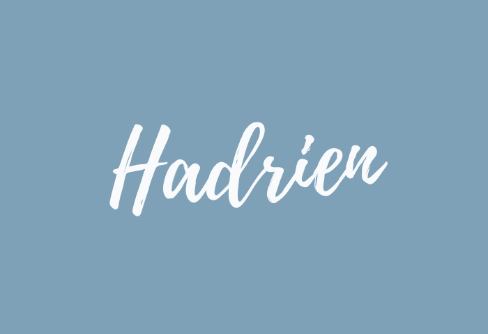 Hadrien name meaning