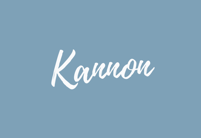 Kannon name meaning