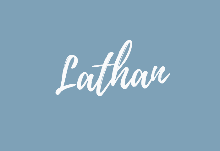 Lathan name meaning