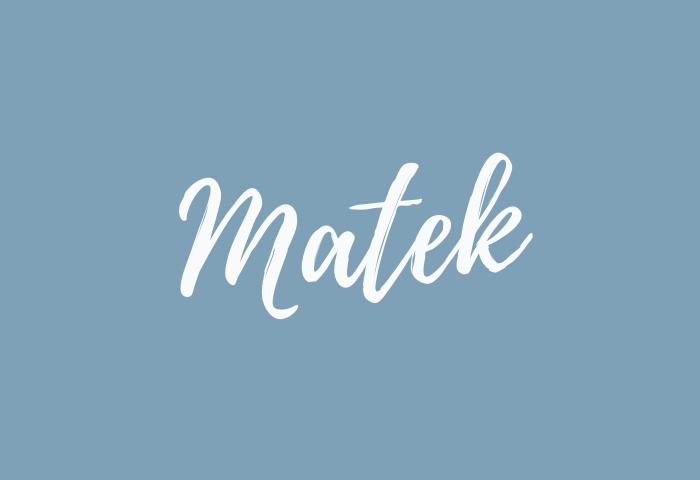 Matek name meaning
