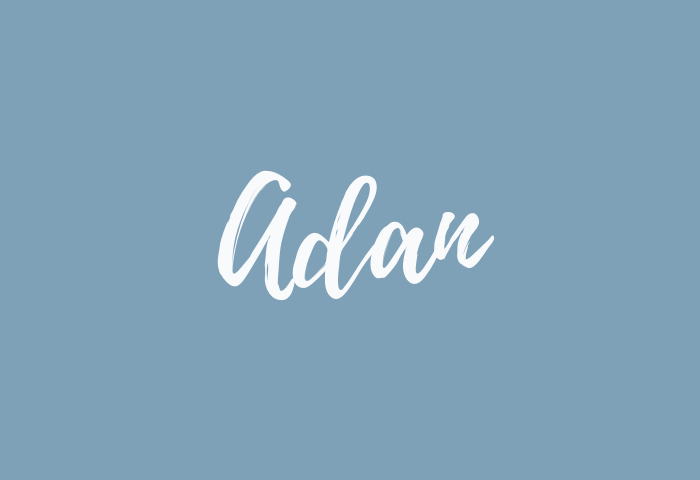 Adan name meaning
