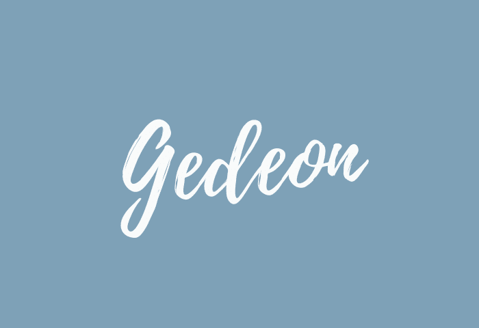 Gedeon name meaning