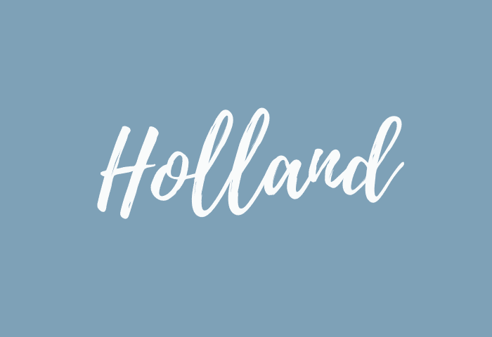 Holland name meaning
