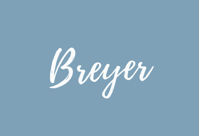 Breyer name meaning