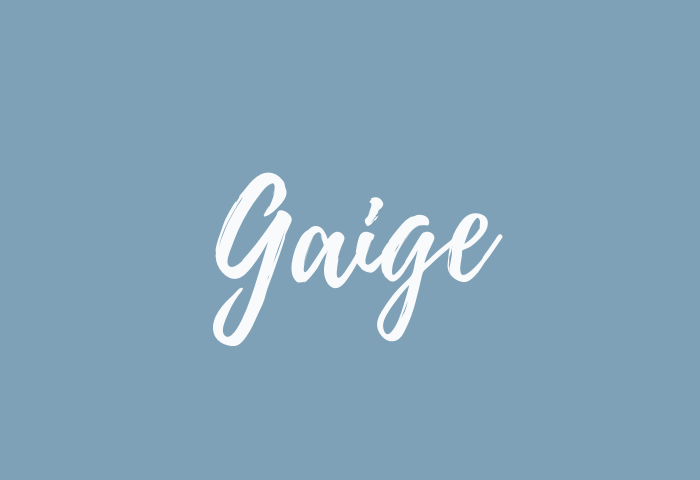 Gaige name meaning