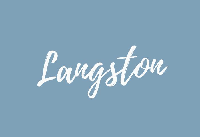 Langston name meaning