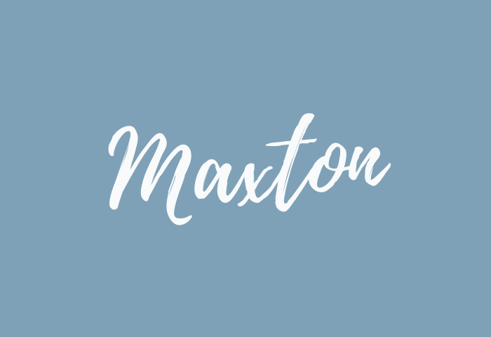 Maxton name meaning