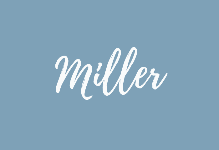 Miller name meaning