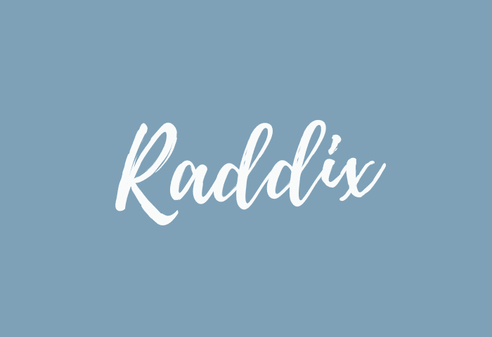 Raddix name meaning
