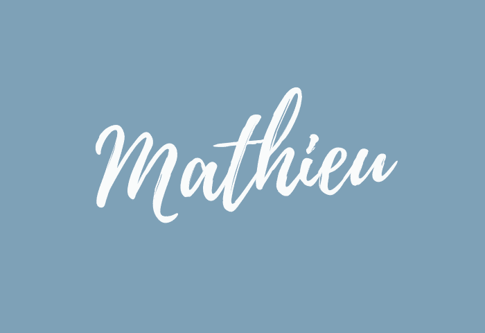Mathieu name meaning
