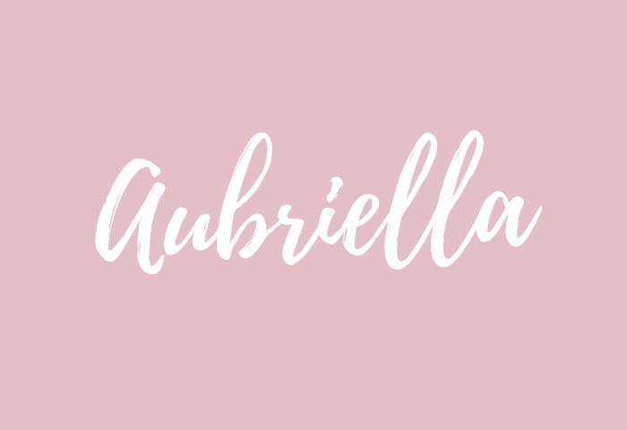 Aubriella name meaning