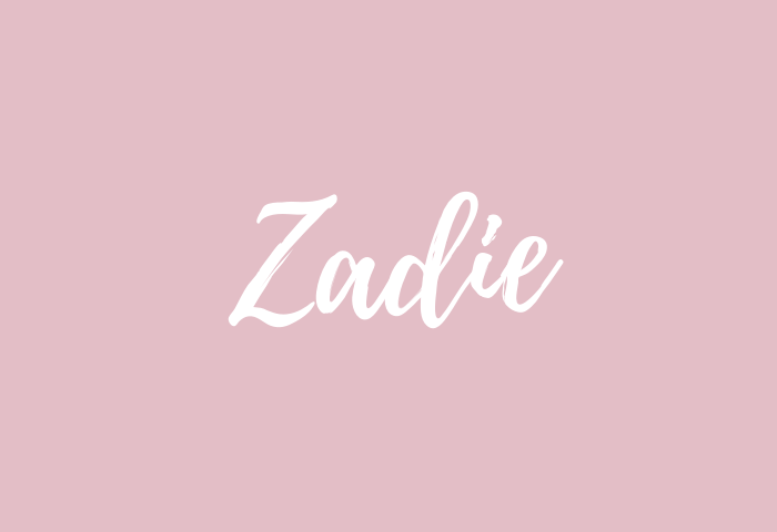 Zadie name meaning