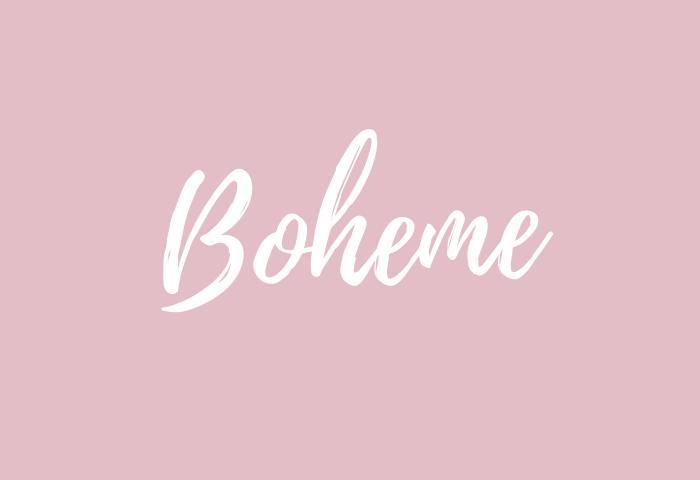 boheme name meaning