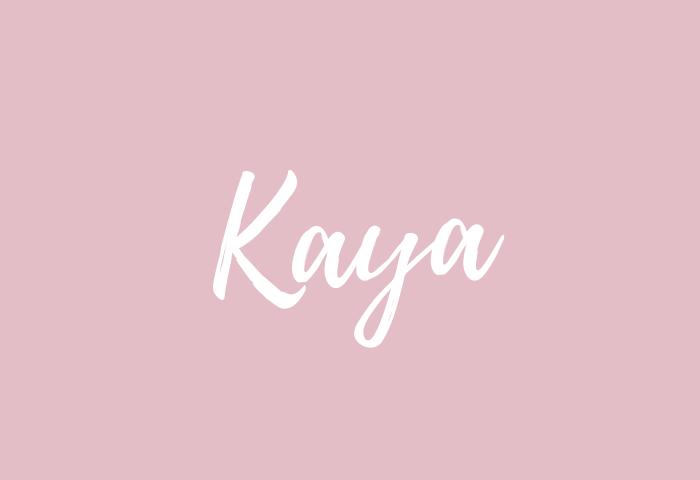 Kaya name meaning