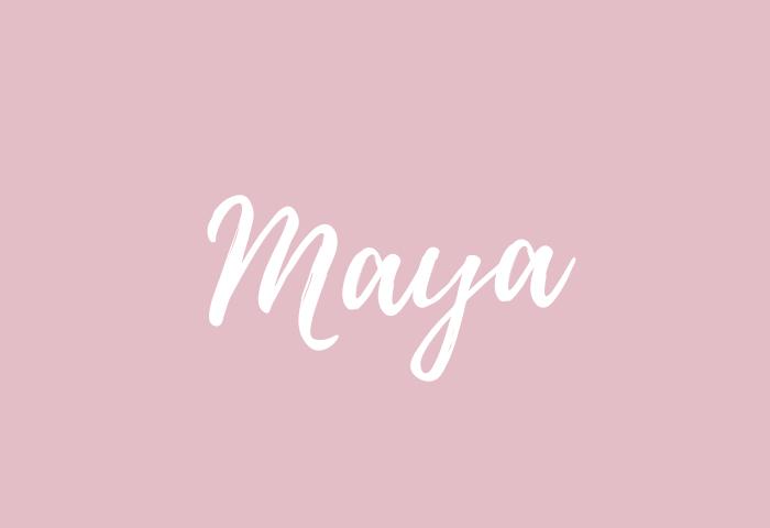 Maya name meaning