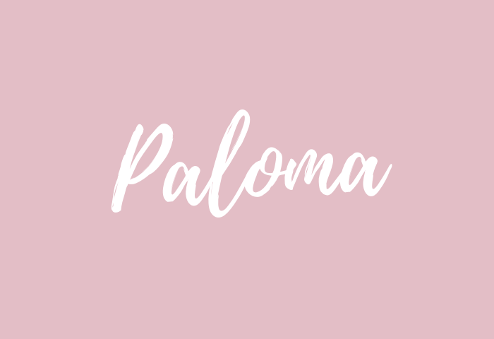 Paloma name meaning