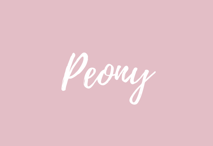 Peony name meaning