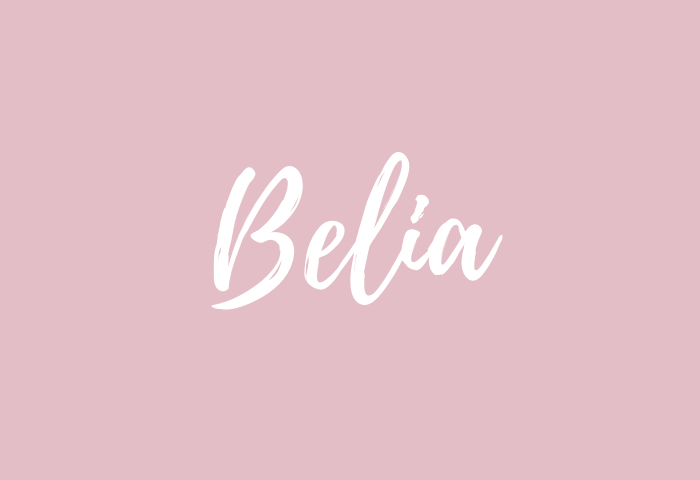 Belia name meaning