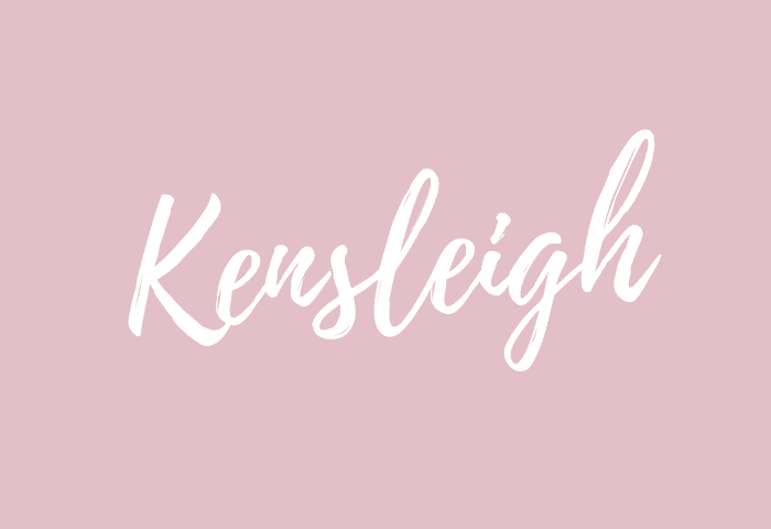 Kensleigh name meaning