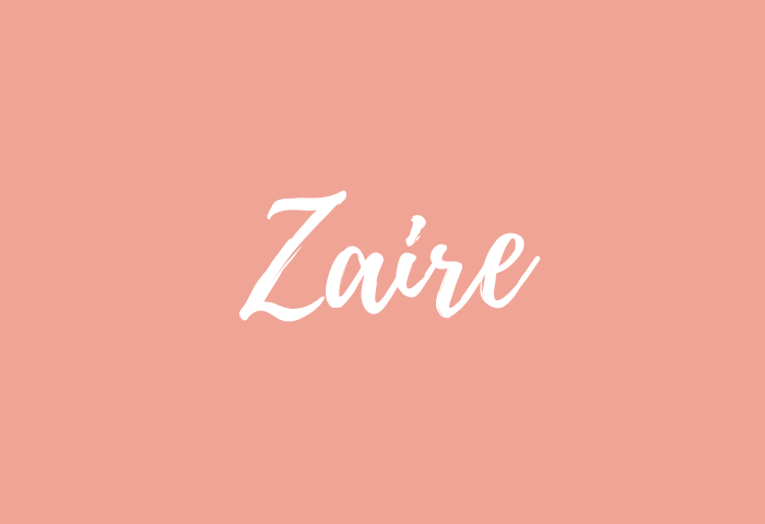 Zaire name meaning