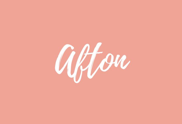 Afton name meaning