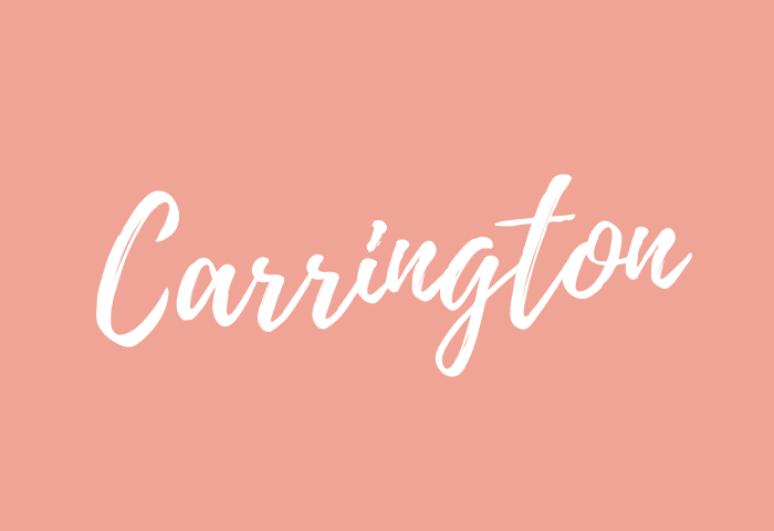 Carrington name meaning