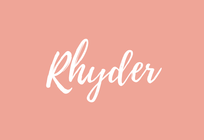 Rhyder name meaning