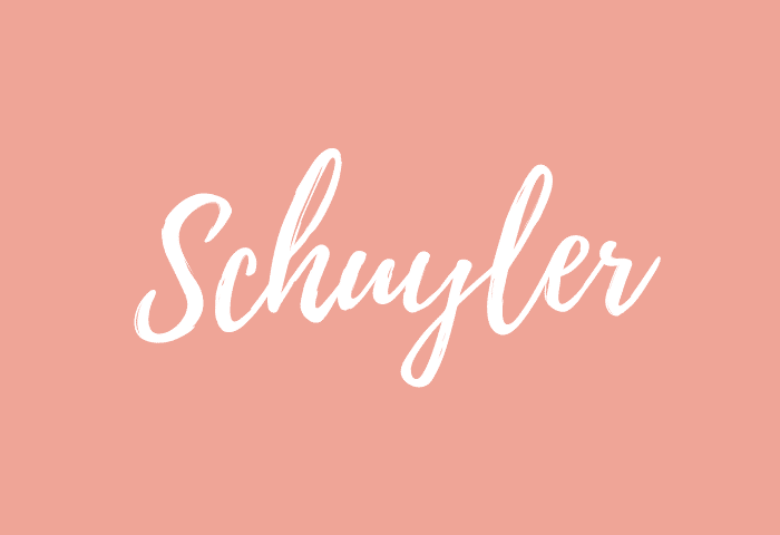 Schuyler name meaning